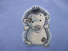 old toy hedgehog iron n sew on motif, patch, / great for baby & childrens items