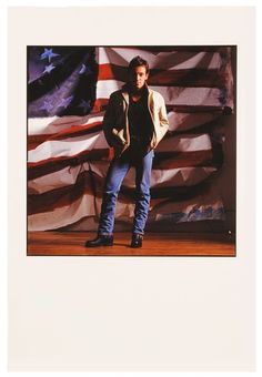 "Original Bruce Springsteen ""Born in the U.S.A."" album cover outtake color photograph by photographer Annie Leibovitz, circa 1984."
