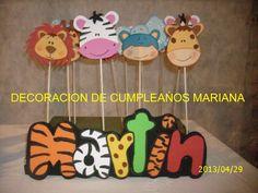 Cumpleaños Animalitos De La Selva - $ 150,00