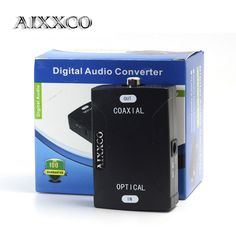 AIXXCO TOSlink Optical Digital Audio to Coaxial Converter 24bit/192K HD sampling Optical audio signals to Coaxial audio signals #Affiliate