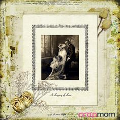 Free Vintage Scrapbook Layouts   Legacy of Love: digital scrapbook layout made using CropMom   Flickr ...
