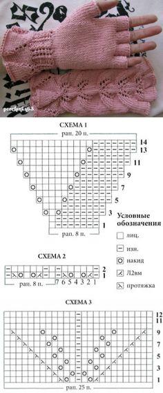 Митенки с ажурными листьями - Perchinka63