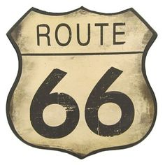 "Open Road Brands 10"" Route 66 Tin Sign 