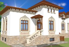 Casa Ciprian, arhitect Adrian Paun / stil #neoromanesc                                                                                                                            More