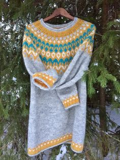 Icelandic Sweaters, Craft Ideas, Couture, Knitting, Pattern, Diy, Crafts, Fashion, Knitting Designs