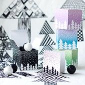 """Free Printable """"Let It Snow"""" Gift Boxes + Tags"""