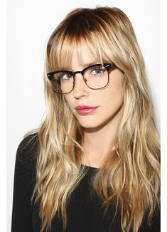 Clear Clubmaster Glasses | Peyton Unisex Metal Clear Half-Frame Glasses | BleuDame.com