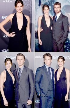Insurgent Cast at the Insurgent NYC Premiere... Kind of funny how they're all her boyfriends.