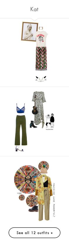 """""""Kat"""" by lolo-green ❤ liked on Polyvore featuring Gucci, Reike Nen, MadeWorn, Marc Jacobs, StreetStyle, Sequins, rockerchick, rockertee, Marni and Roses Are Red"""