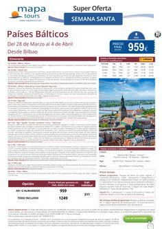 Países Bálticos Semana Santa salida Bilbao ** Precio Final desde 959** ultimo minuto - http://zocotours.com/paises-balticos-semana-santa-salida-bilbao-precio-final-desde-959-ultimo-minuto/