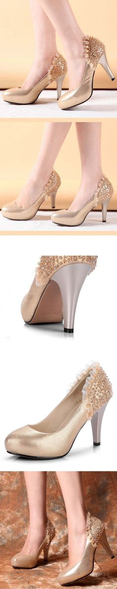 """Clearly Heeled Formal High Heel Alligator Naughty Non Slip Ankle Heel Booties """"Stunning Wedding Footwear, Reddish Colored Look Bottom Blighters"""" Tango Stiletto Army Mature Sequined Cutest Military Female Closed Toes Red Bottom Alligator Shimmer Ankle Polka Dot High Heels Interview Mini Bows Golden Closed Toed."""