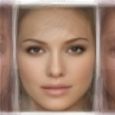 #averageface of 16 of the most beautiful faces. Reproduced by using iPhone App 'Average Face'. http://lovelyish.com/733599569/