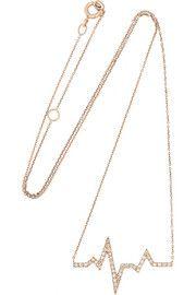 Diane KordasHeartbeat 18-karat rose gold diamond necklace