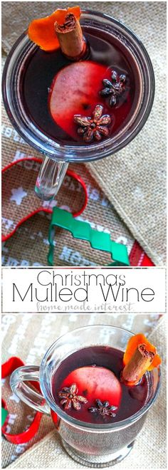 If you're looking for a cocktail for the holidays this Mulled Wine recipe is a an awesome Christmas drink recipe or New Year's Eve drink recipe. Mulled wine is cooked with warm, inviting spices that make the whole house smell like the holidays. It is the perfect holiday drink recipe for holiday entertaining! #WhenToWine #ad