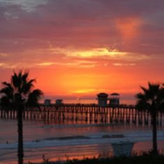 Cecelia's Sunset Over The Oceanside Pier *~