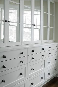 Think about misx of Doors and Drawers - for China and linens #Built-in Ideas