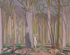 Adam et Eve - Maurice Denis, 1924 French, 1870 - 1943 oil on canvas Maurice Denis, Monet, Adam Et Eve, Dream Symbols, Gauguin, Avant Garde Artists, Visionary Art, 2d Art, French Art