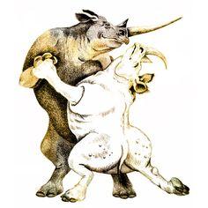 Rhinos Tango by Evelyn Shifflett