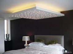 plafond rétro éclairé avec effet étoilé.... wow