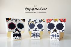 DIY Day of the Dead Skulls Decorations by Design is Yay!
