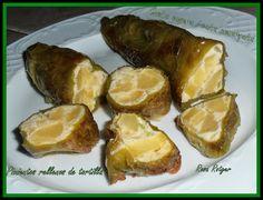 Pimientos rellenos de tortilla de patatas