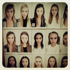 The model board at DKNY - Spring 2013.