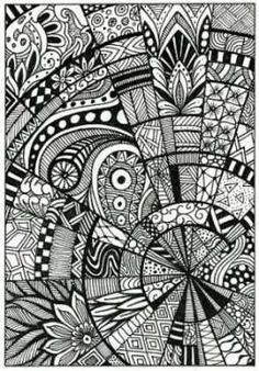 Paradox Tangle / Zentangle Pattern - How to do it - 4 steps to get started - getst . Paradox Tangle / Zentangle Pattern - How to . Doodle Art For Beginners, Easy Doodle Art, Doodle Art Drawing, Nature Drawing, Zentangle Drawings, Doodles Zentangles, Mandala Drawing, Zentangle Patterns, Drawing Ideas