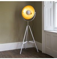 Archie Photographic Tripod Floor Lamp in Black and gold interior but ...