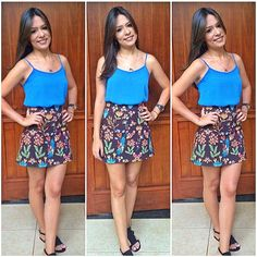 Como eu adoro uma saia estampada . Essa da @zara é uma das minhas favoritas . Blusinha fofa da @zinzane_brasil, presente da @marianna_   #lookdodia #ootd