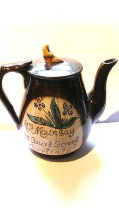 Scottish Cumnock Pottery teapot
