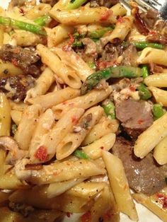 Pub Restaurant Copycat Recipes: Prime Rib Pasta... I make this alot and it is sooo good!! i use sirloin instead of prime rib just make sure to not let that steak meat get tuff