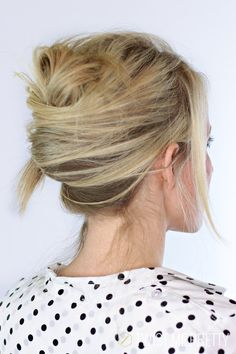Simple and Doable Messy French Twist