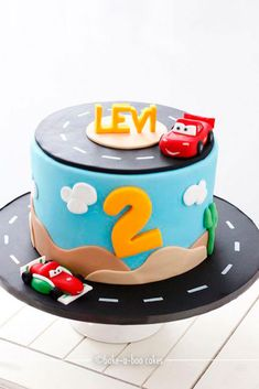 by Bake-a-boo Cakes NZ The post Boys favourite Disney Cars Cake! appeared first on Leanna Toothaker. Disney Cars Cake, Disney Cars Birthday, Disney Cakes, Baby Cakes, Fondant Cakes, Cupcake Cakes, Fondant Bow, 3d Cakes, Fondant Tutorial