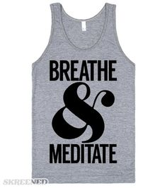 Breathe & Meditate | Even if you're not in an intense yoga sesh it's important to breathe and meditate! Put your mind at ease, friends! #Skreened