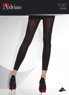 Gładkie legginsy 40 den wykonane w technologii LYCRA 3D (wysoka elastyczność).