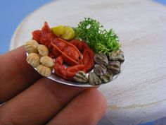 Dollhouse Miniature Seafood Collection