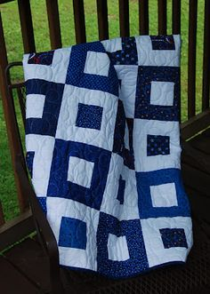 great two color quilt