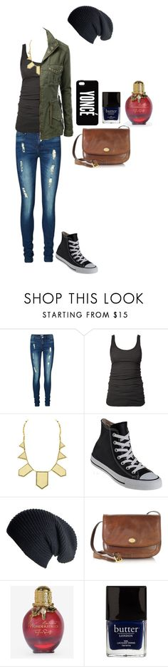 """""""I Don't Mind"""" by jazz52099 ❤ liked on Polyvore featuring Vero Moda, James Perse, House of Harlow 1960, Converse, The Bridge, Butter London, cool, fashionista, Beyonce and casualoutfit"""