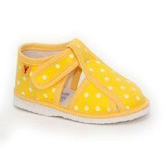 Papuče žltá bodka DOKONALE :)