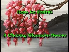 How to Paint a Cherry Blossom Scene - Step by Step Acrylic Painting on Canvas for Beginners - YouTube
