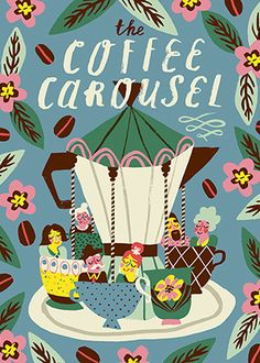 Marijke Buurlage | The Coffee Carousel | Love this palette!