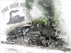 No 2 in a series of 3 depicting Icons of the Wild West - The Iron Horse