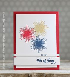 Happy 4th Of July Card by Laurie Willison for Papertrey Ink (June 2014)