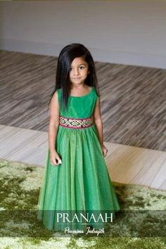Green full length frock