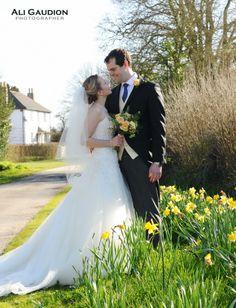 Southend Barns wedding daffodils photo Themed Weddings, Barn Wedding Venue, Yellow Wedding, Daffodils, Barns, Photo Ideas, Wedding Photos, Wedding Dresses, Fashion