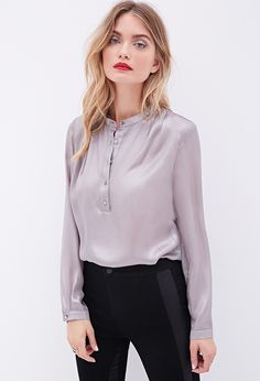 #SALE Sheer Metallic Blouse | Shop the #SALE at #FOREVER21