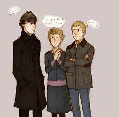Deerstalker by on deviantART (Sherlock, Mrs. Sherlock Cartoon, Sherlock Mary, Sherlock Holmes, Mrs Hudson, Happy Fun, Johnlock, Martin Freeman, Baker Street, Superwholock