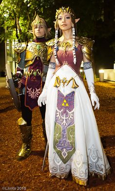 Magic Armored Link and Princess Zelda, Twilight Princess by LJinto.