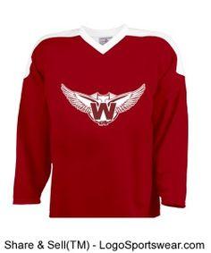 Buy custom hockey jerseys for your pond hockey league team, school, industrial league, office league or fantasy hockey league. Request a logo design. Custom Hockey Jerseys, Sports Jerseys, Hockey Apparel, Custom Shirts, Wings, Logo Design, Sweatshirts, Sweaters, Stuff To Buy