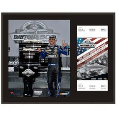 "Jimmie Johnson Fanatics Authentic 12"" x 15"" 2013 Daytona 500 Champion Sublimated Plaque with Replica Ticket - $39.99"